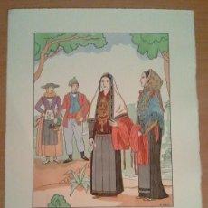 Art: IBIZA - BALEARES - TRAJE REGIONAL DIBUJADO POR D'IVORI - AÑO 1936. Lote 27830189