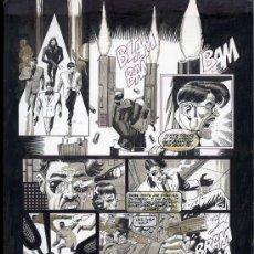 Arte: ORIGINAL DE PAUL GULACY- DOUBLE CROSS BK-1 PA 4 PLUMA Y PINCEL--29.5X44.5 ART COMIC CARPETA GULACY. Lote 28245709