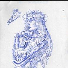 Arte: ORIGINAL CHARLES DOUGHERTY-TAMAÑO22X 28-ROTULADOR FINO ART COMIC. Lote 28249401