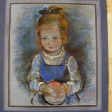 Arte: MICHAEL D'AGUILAR ( *1922 - INGLATERRA ) - RETRATO INFANTIL. Lote 28331546