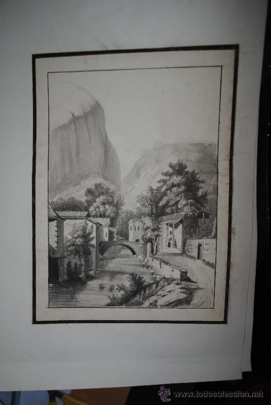 Carboncillo Antiguo 25x35cm Mas Margenes Muy Decorativo Original