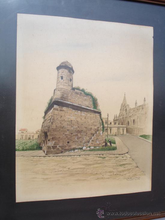 LA HABANA CUBA J.RIVAS MENA (Arte - Dibujos - Modernos siglo XIX)