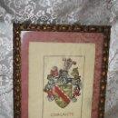 Arte: A2-073. ANTIQUÍSIMO DIBUJO HERÁLDICO DE LOS CASCANTE LINAJE DE CASTILLA S.XVII-XVIII. Lote 28869673