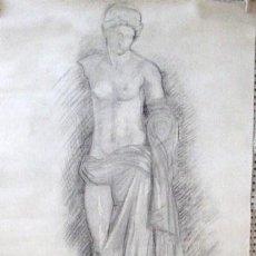 Arte: DIBUJO. ESCUELA ESPAÑOLA. AÑOS 40.DIBUJADO EN LAS DOS CARAS... ENVIO CERTIFICADO GRATIS¡¡¡. Lote 28903770
