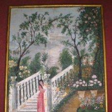 Arte: BONITA AGUADA DE ARTE NAIF, FECHADA Y FIRMADA EN 1931. Lote 28952218