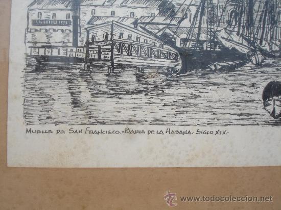 Arte: MUELLE BAHIA SIGLO XIX HABANA CUBA (L.CAO) - Foto 3 - 28961668
