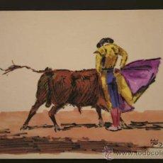 Arte: ESCENA TAURINA DE ENRIQUE PASTOR.. Lote 29202237