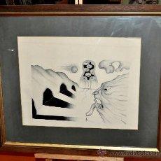 Arte: ESCUELA DALINIANA. FIRMADO MORALES DEL AÑO 1972. DIBUJO A TINTA. COMPOSICIÓN ABSTRACTA. Lote 29489521