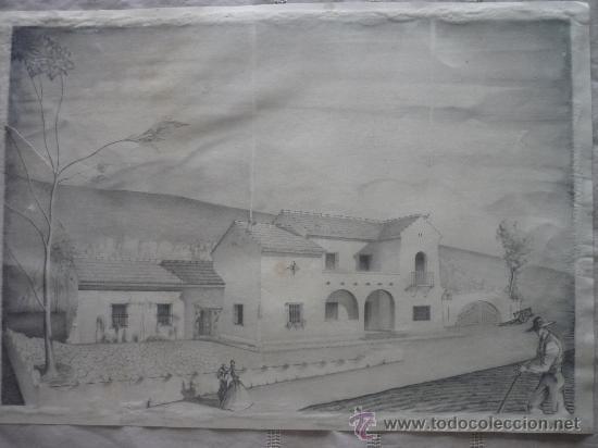 PAISAJE SIN FIRMA (Arte - Dibujos - Contemporáneos siglo XX)