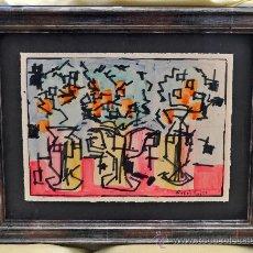 Arte: EMILI BOSCH ROGER (BARCELONA, 1894 - BARCELONA, 1980). AGUADA Y ROTULADOR (BODEGÓN DE JARRONES). Lote 29698162