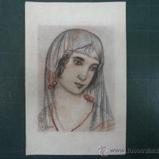Arte: A. JIMENEZ. RETRATO DE DAMA.. Lote 30070373