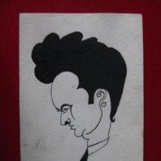 Arte: DIBUJO CARICATURA PINTADA A MANO. Lote 30204298