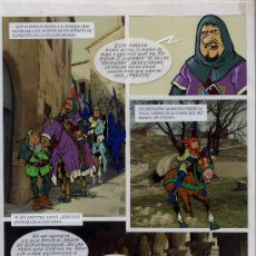 Arte: ART COMIC DIBUJO ORIGINAL COLOR SOBRE FOTO DE CHIQUI DE LA FUENTE TAMAÑO 46X35. Lote 30227829