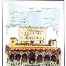 Arte: LE CLAY, HUGO.-PATIO DE LA ALBERCA, CON LA TORRE DEL HOMENAJE, CUADERNILLO CON CORDONCILLO. Lote 30259941