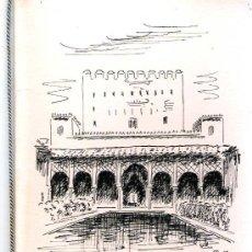 Arte: LE CLAY, HUGO.- DIBUJO DEL GENERALIFE DE GRANADA A TINTA SIN COLOREAR, CUADERNILLO CON CORDONCILLO. Lote 30260155