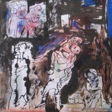 Arte - Jordi Samsó 2006 - Tinta, ceras, acrílico sobre cartulina - 30 x 30 cm - Los desamparados - 30293726