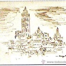 Arte: LE CLAY, HUGO.- DIBUJO A TINTA Y A MANO DE - SEGOVIA - EN UN CUADERNILLO. FIRMADO. . Lote 30307964