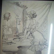 Arte: DIBUJO A LAPIZ-EROTICO-PARIS 1901. Lote 30329002