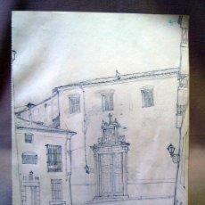Arte: DIBUJO A LAPIZ, IGLESIA DE LAS CARBONERA DE MADRID, LIBRETA BOCETOS JUAN LUIS GASTALDI ALBIOL, 1950S. Lote 30378688
