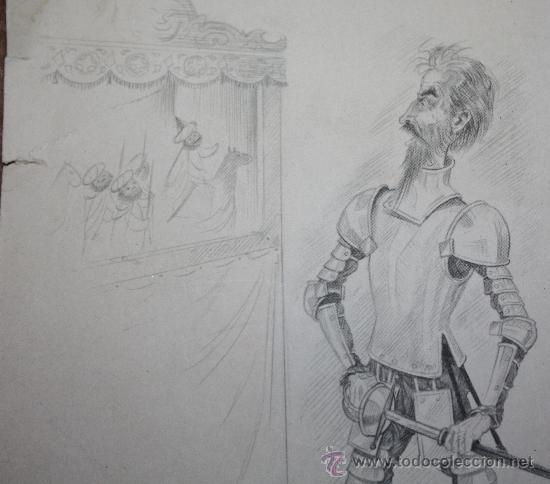 Arte: DIBUJO A LAPIZ DEL QUIJOTE - Foto 2 - 30621282