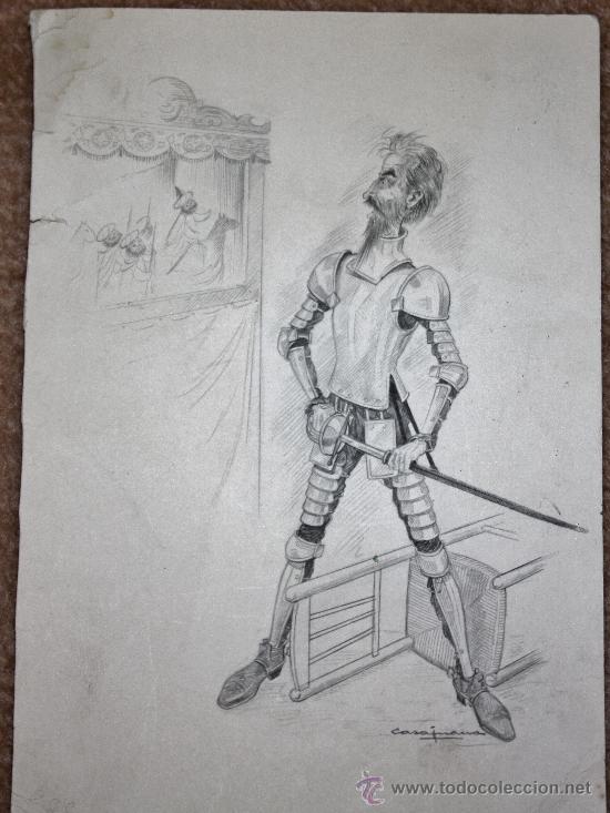 DIBUJO A LAPIZ DEL QUIJOTE (Arte - Dibujos - Contemporáneos siglo XX)