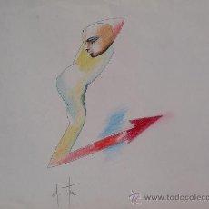Arte: ALFONSO COSTA - DIBUJO - 25 X 35 - 'LA FLECHA'.. Lote 30688078