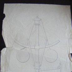 Arte: DIBUJO LINEAL TRIGONOMETRIA ANTIGUO. ANTIGUO FIRMADO POR EL ALUMNO Y EL PROFESOR. . Lote 30933199