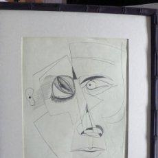 Arte: J. RÍOS G. DIBUJO ABSTRACTO LAPIZ SOBRE PAPEL FIRMADO Y FECHADO. Lote 31046176