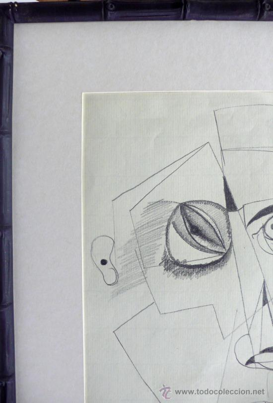Arte: J. Ríos G. Dibujo abstracto lapiz sobre papel firmado y fechado - Foto 3 - 31046176