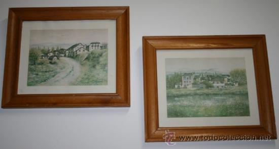 2 cuadros - marcos de madera y laminas con dibu - Comprar Dibujos ...