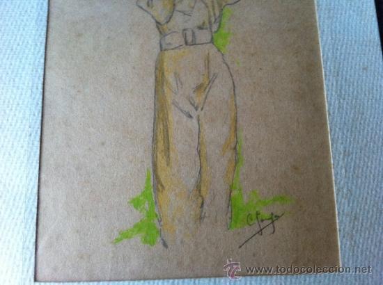Arte: DOS ANTIGUOS DIBUJOS DEL SIGLO XX. FIRMADOS POR ¿C. SOUSA? - Foto 7 - 31335505