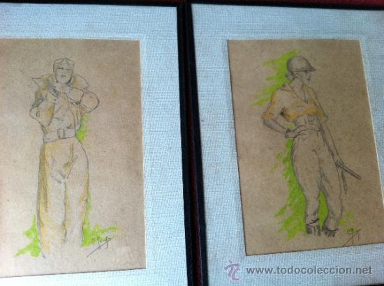 Arte: DOS ANTIGUOS DIBUJOS DEL SIGLO XX. FIRMADOS POR ¿C. SOUSA? - Foto 2 - 31335505