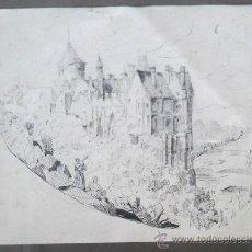 Arte: DIBUJO DEL 1889, FIRMADO M. DE LAS MERCEDES. Lote 31888950