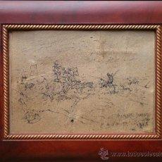 Arte: BIBUJO A TINTA- ROBERTO DOMINGO FALLOLA. Lote 32348678