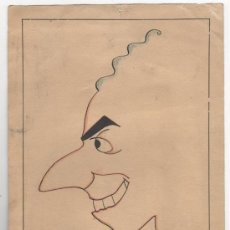 Arte: DIBUJO ORIGINAL. CARICATURA. FIRMA: SUNYOL. 1935.. Lote 32293947