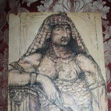 Arte: PRECIOSO DIBUJO A TINTA DEL S.XIX - REPRESENTANDO FARAÓN - FIRMA ILEGIBLE. Lote 57839289