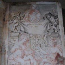 Arte: LIBRETA CON 90 PAG. 58 DIBUJOS Y BOCETOS ORIGINALES S. XVIII .PINTURA NA TURA VER FOTOG. COSSIO PINX. Lote 32331806