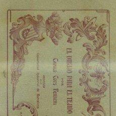 Arte: CAMILO COTS FERRERI : EL DIBUJO PARA EL TEJIDO - 31 LÁMINAS EN CARPETAS (C. 1930). Lote 32506011