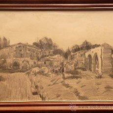 Arte: DIBUJO DE JOAN PERE EN CASTELLDEFELS. Lote 32591106