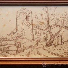 Arte: DIBUJO DE JOAN PERE EN ARROSSET. Lote 32591335
