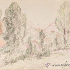 Arte: DIBUJO A LAPIZ COLOREADO, FIRMADO FERRATER. Lote 32763669