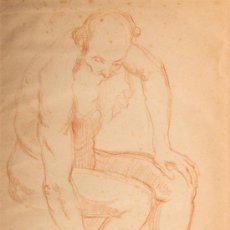 Arte - Dibujo a sanguina, firmado Matamala - 32770602