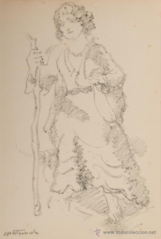 DIBUJO A LAPIZ, FIRMADO MATAMALA (Arte - Dibujos - Contemporáneos siglo XX)