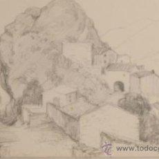 Arte: DIBUJO A LAPIZ, FIRMADO FERRATER, LA ROCA, AÑO 1932. Lote 32789764