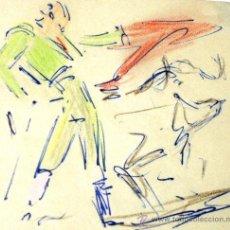 Arte: OFERTA PRECIOSO DIBUJO JOAQUIN TERRUELLA 1891-1957 PLUMILLA TAURINA (TORO, MATADOR, TAUROMAQUIA). Lote 32761621