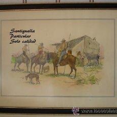 Arte: CUADRO ROBERTO DOMINGO FALLOLA. PLUMILLA COLOREADA. Lote 26214990