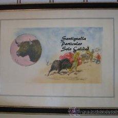 Arte: CUADRO ROBERTO DOMINGO FALLOLA. PLUMILLA COLOREADA. Lote 27371450