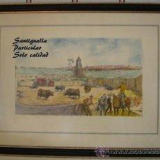 Arte: CUADRO ROBERTO DOMINGO FALLOLA. PLUMILLA COLOREADA. Lote 27371452