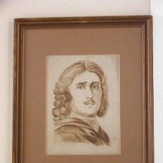 """Arte: """"RETRATO DE PEDRO EL GRANDE"""". AGUADA. Lote 33257053"""