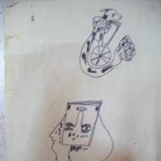 Arte: ANTONIO FERNANDEZ MOLINA-DIBUJO A ROTULADOR. Lote 33321596